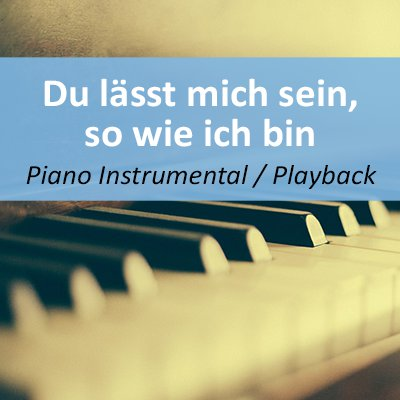 Du lässt mich sein so wie ich bin Playback Instrumental