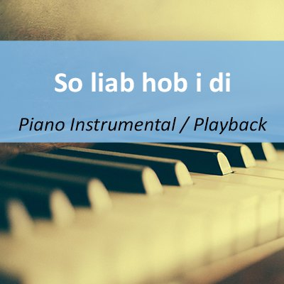 So liab hob i di im Stil von Gabalier Playback Instrumental